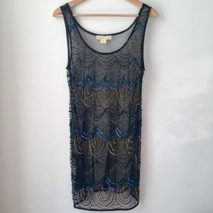 NWOT Urban Outfitters sequined sheer dress